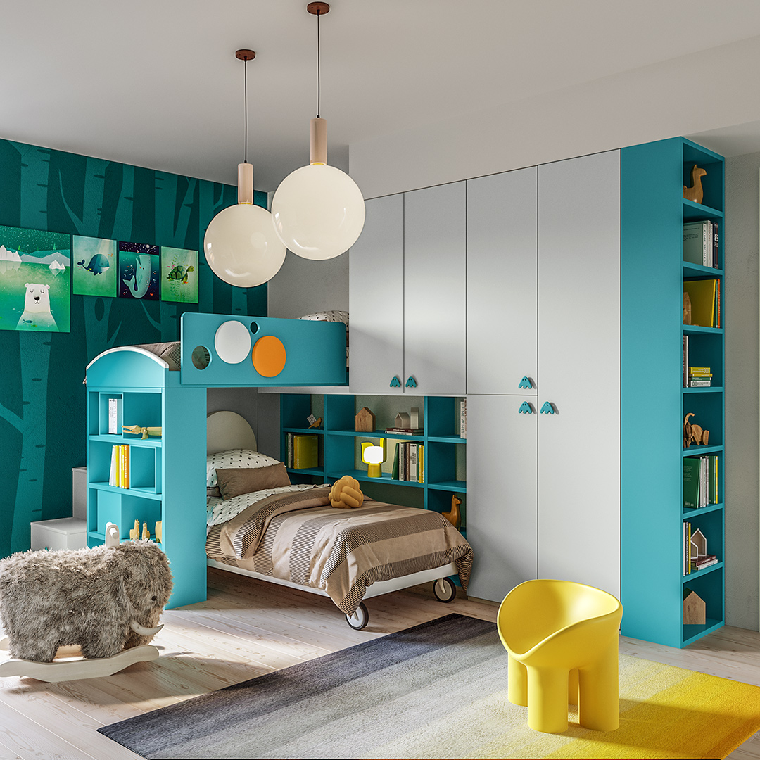 Chambre pour enfant lit superposé Giessegi